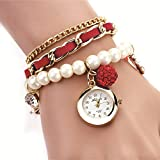 #9: Skylofts Casual Pearl Bracelet watches Fashion Ladies Girls Women's Watch