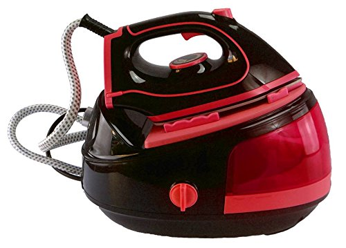 Professionelle Dampfbügelstation Dampfbügeleisen 2100W Bügelstation Bügeleisen Iron in verschiedenen Farben (Rot)