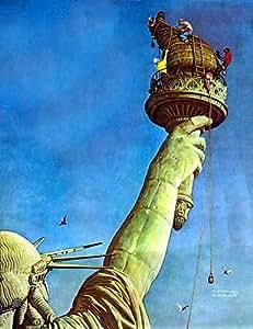 Statue de la liberté de Norman Rockwell Art Print - 8 x 10–Unmatted, sans cadre