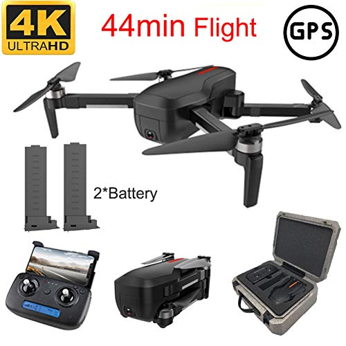 JJR/C VR MV RC Drone Quadricoptère WiFi 5G avec Caméra Grand Angle 4K HD Réglable Double 110°,Positionnement du Flux Optique Basse Tension RTH Moteur sans Balais,pour Adulte Professionnel,2Battery