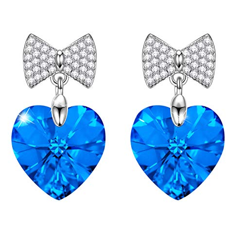 Sivery 'Amore Cuore' orecchini donna, Elementi Swarovski, gioielli donna, regalo donna natale