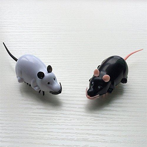 Katzenspielzeug Elektrische Maus geformte Katze Spielzeug Scratch Spielzeug für Katze Training (weiß) Haustier interaktives Spielzeug