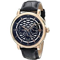 Adee Kaye Men's AK2242-MRG/BK Successo Analog Display Automatic Self Wind Black Watch