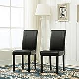 MCC® Esszimmerstühle im 2er Set aus Kunstleder für Private und gewerbliche Nutzung, SCHWARZ
