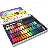 Mungyo Non Toxic Square Chalk, Soft Pastel, 64 Pack, Assorted Colors (B441R078-7003A) by Mungyo