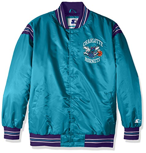 STARTER Herren 's The Enforcer Retro Satin Jacke, Herren, The Enforcer Retro Satin Jacket, blaugrün - Hartholz-akzent