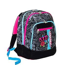 e0d8b47599 Zaino scuola advanced SEVEN – ROSES GIRL – Nero – 30 LT – inserti ...