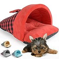 Jspoir Melodiz Winter British Style Pet Beds for Dogs/Cats Slippers Semi-Closed Cat Mattress Dog Pet Nest Cotton