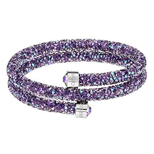 Swarovski Crystaldust Double Bangle Purple Stainless Steel 5385843 - Crystal Rock Damen-t-shirt