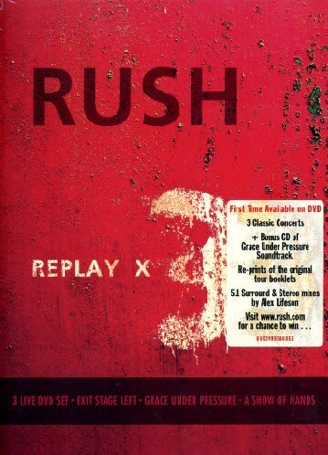 Rush - Replay X 3 (3 DVD+CD)