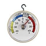 Thermometerwelt Kühlschrankthermometer zum ankleben oder aufhängen mit Metall Haken, Analog 4946