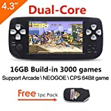 CZT 4.3 inch screen 64Bit Handheld Game Console Portable Game Console build in