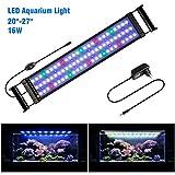 FTALGS Aquarium LED Beleuchtung Aquariumbeleuchtung Weiß Blau Rot Grün von Licht (60A=21.6''-29.5''(50CM))