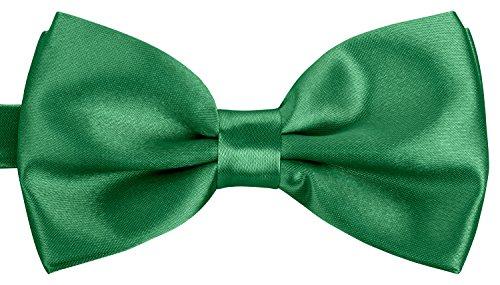 BomGuard Fliege für Herren grün I Männer Fliege für Hochzeit, Party oder edele Anlässe I Trendy Bow Tie I -