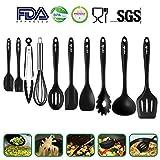 silikon küchenhelfer,Hochwertige Hitzebeständige,EinfachZu Reinigen silikon küchenutensilien,küchenhelfer,silikon löffel silikon schneebesen Küchenhelfer Set 10Stück,Antihaft Topf küchenhelfer