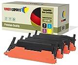 4er Set TONER EXPERTE® Premium Toner kompatibel für Samsung CLP-360 CLP-365 CLP-365W CLX-3300 CLX-3305 CLX-3305FN CLX-3305W Xpress C410W C460W C460FW C467W CLT-K406S CLT-C406S CLT-M406S CLT-Y406S