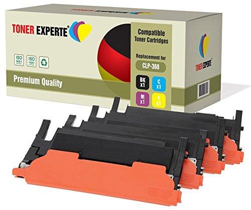 4er Set TONER EXPERTE® Premium Toner kompatibel für Samsung CLP-360, CLP-360N, CLP-365,...