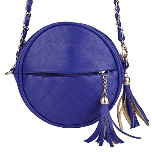 Honeymall piccoli rotondi pacchetto/ mobile tondo pacchetto/Mini tracolla borsa a tracolla piccola spalla Borsa nappa Rosso Blu