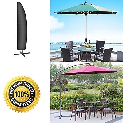 Aimego Schutzhülle für Ampelschirm, 265cm Abdeckung für Sonnen Sonnenschirm/Garten Sonnenschirm Abdeckung Oxford Wasserdicht, Schwarz von Aimego - Gartenmöbel von Du und Dein Garten