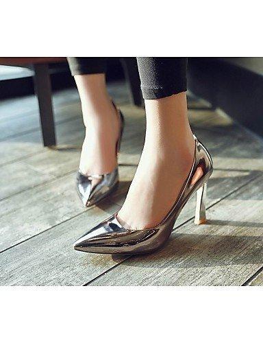 ShangYi Chaussures Femme - Mariage / Bureau & Travail / Soirée & Evénement - Noir / Violet / Argent / Or - Talon Aiguille -Talons / Bottes à la Silver