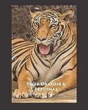 Tiger Up Close & Personal 4x4 Graph 8x10 Notebook Journal