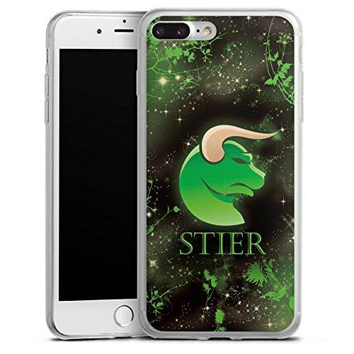 Apple iPhone 8 Plus Slim Case Silikon Hülle Schutzhülle Sternzeichen Stier Astrologie Silikon Slim Case transparent