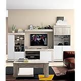 Mobelcenter - Mueble Salón Logan 004 - Blanco y Vintage - 295 x 39,8 x 170,5 cm ¡PORTES GRATIS ! Ref 0812