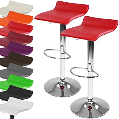 Miadomodo Swivel Bar Chairs Adjustable Seat Height Stools (Different Colours) Home Breakfast Dining Furniture (Set of 2) - low-cost UK sofabed shop.