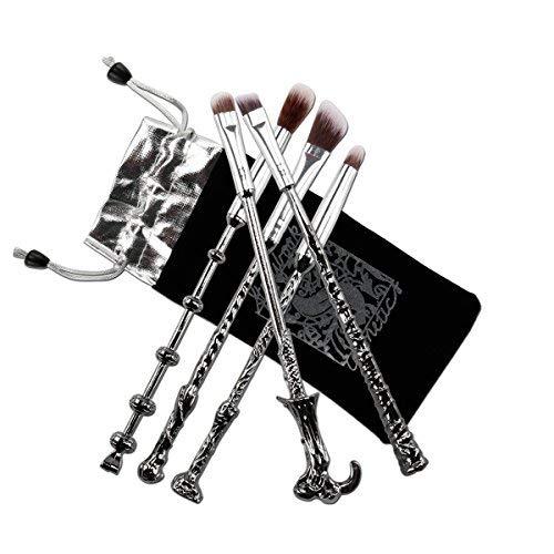 Brochas Maquillaje, Pinceles de Maquillaje 5 piezas, forma de Varita M
