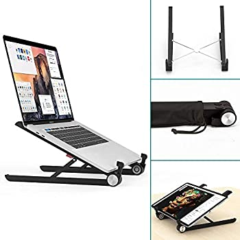 MacBook Pro and Other Notebooks NATOL Laptop Stand Portable 11-15.6 Notebook Stand and Foldable Universal Lightweight Aluminum Stand with Steady Ergonomic Minimalist Design for iPad MacBook Air
