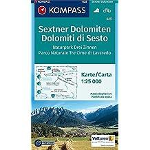 Sextner Dolomiten, Naturpark Drei Zinnen, Dolomiti di Sesto, Parco Naturale Tre Cime: Wanderkarte mit Radtouren. GPS-genau. 1:25000: Wandelkaart 1:25 000 (KOMPASS-Wanderkarten, Band 625)