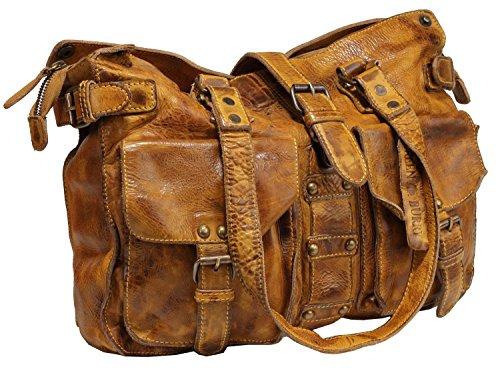 Billy the Kid Kate Sac à main porté épaule cuir 37 cm honey