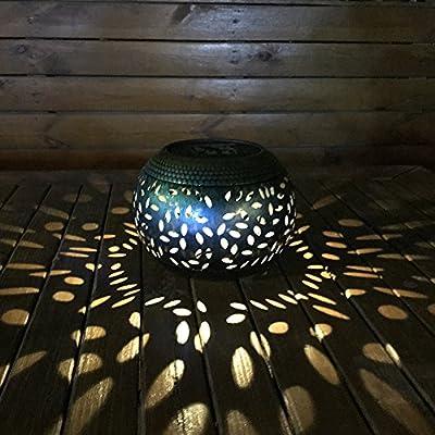 Demiawaking Solar Lights Outdoor Garden Lantern LED Hanging Lamp Maple Leaf Waterproof Warm White Night Light for Garden Path Ornaments from Demiawaking