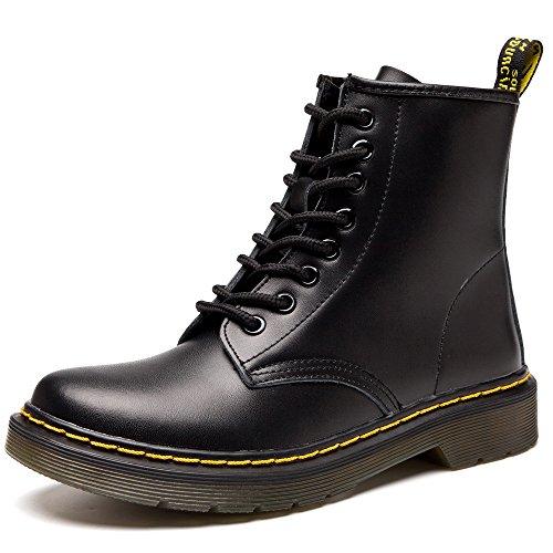 SITAILE Unisex-Erwachsene Bootsschuhe Derby Schnürhalbschuhe Kurzschaft Stiefel Winter Boots für Herren Damen Schwarz EU40