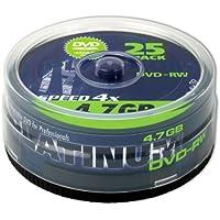 Platinum 4,7 GB DVD-RW DVD-Rohlinge (4x Speed, 120 Min) in 25er Spindel-Cakebox