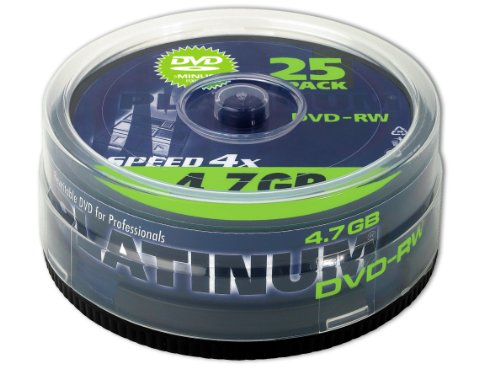 Platinum 4,7 GB DVD-RW DVD-Rohlinge (4x Speed, 120 Min) in 25er Spindel-Cakebox Platinum Dvd-rw