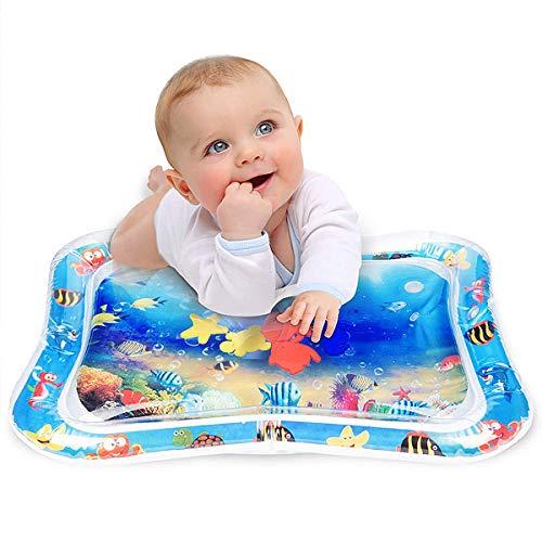 Aufblasbare Wassermatte Baby, Welltop PVC Wassergefüllte Spielmatte für Kinder und Kleinkinder Babyspielzeug Spielspaß und Kleinkindgeschenke 66 x 50cm