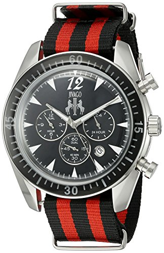 Jivago Men's 'Timeless' Quartz Stainless Steel Casual Watch (Model: JV4511NR)