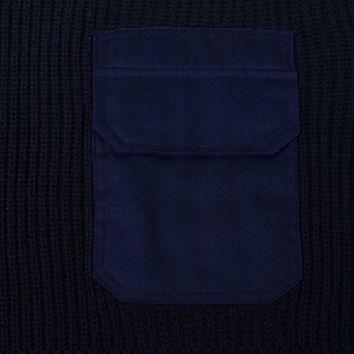 vidaXL Maglione Da Lavoro Per Uomo Blu Marino Filo Acrilico con Tasche Taglia M Blu M