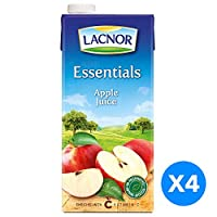 ‏‪Lacnor Essentials Apple Juice - Pack of 4 Pieces (4 x 1 Liter)‬‏
