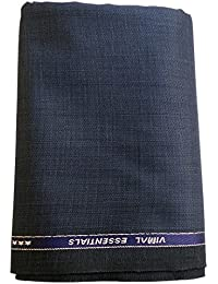 Vimal Blue Premium Men's Unstitched Trouser Fabric - 1.2 Meters & 1.3 Meters , Trouser Fabric For Men