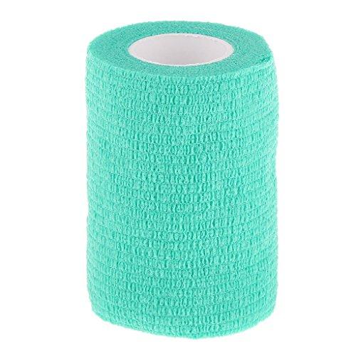 75cm-bandage-gaze-pansement-auto-adhesif-ruban-soins-de-la-cheville-vert