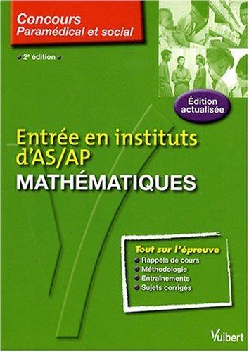 Mathématiques : Entrée en institut d'AS/AP par Anne-Sophie Diamante