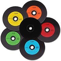 25 Vinyl CD-R NMC Bunt Carbon Dye komplett schwarze Rückseite CD-Rohling 700MB