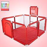 Box per bambini, piscina interna per bambini a sfera sull'oceano, tappetino per gattonare per bambini piccoli, recinto di sicurezza per bambini, recinto di protezione per bambini, 120X120X62CM-rosso