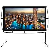 KHOMO GEAR Pantalla Grande para Proyector con Base Uso Interior y Exterior 230 x 200 cm - 100 Pulgadas - TV Projector Screen