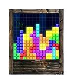 Lampe aus Holz Tetris