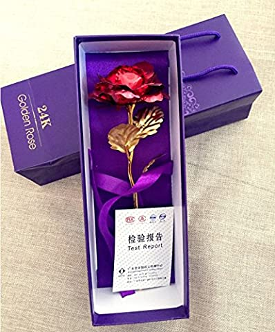 9.8-inches Gold Foil Rose - Best Valentine's Day Gifts -