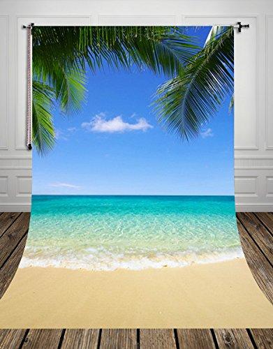 coloc Foto® 150* 220cm Hawaii Strand Fotografie Boden Digitaldruck des Neugeborenen Backdrops für Foto Studio oder Teil d-8538