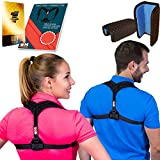 Posture Corrector for Women & Men, Relieves Shoulders Pain, Corrects Slouching, Hunching & Bad Posture, Upper Back Brace for Clavicle Support, Chest 28